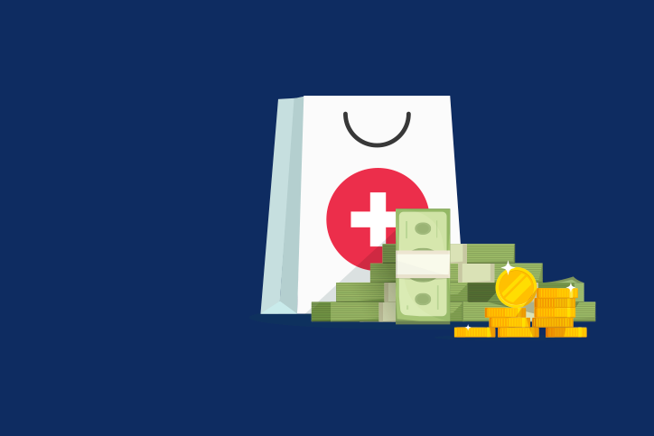 Healthcare dollars graphic
